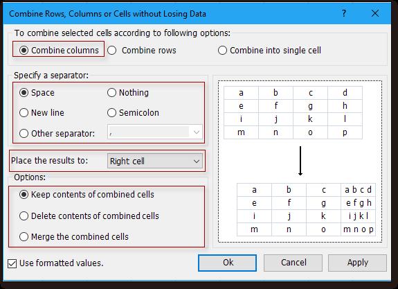 doc concatenate number text 4