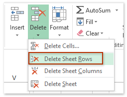 Delete Sheet Rows feature