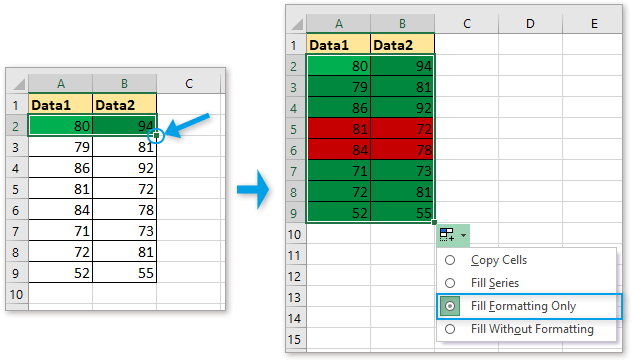 doc conditional formatting for each row 10