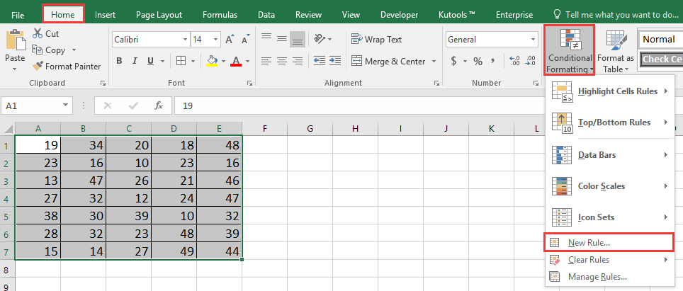 doc conditional formatting not in two values 1
