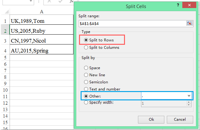 doc convert comma values to list 6 6
