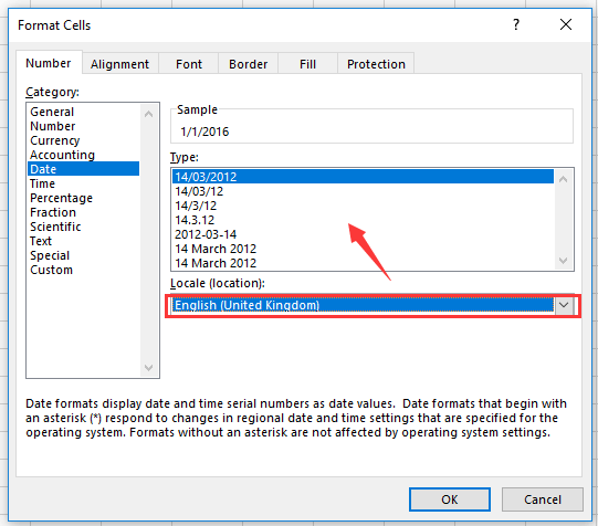 How to quickly convert date format between European and US in Excel?
