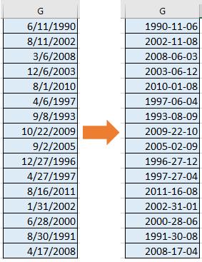 fecha de conversión de documento a aaaammdd 9