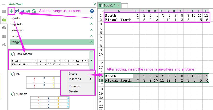 document autotekstbereik