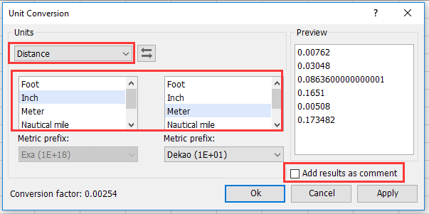 doc convert inch to foot cm mm 4