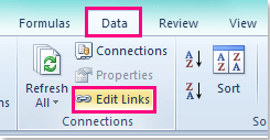 How to convert external links to values in Excel?