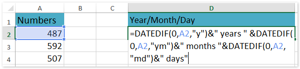 doc convert number to date year month day 1