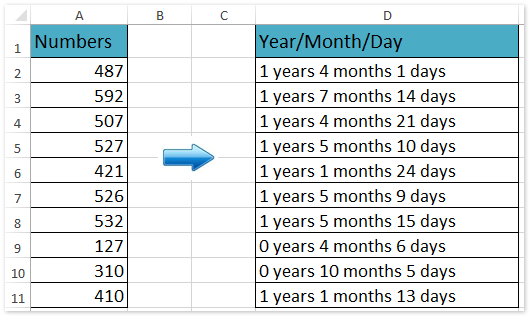 doc convert number to date year month day 2