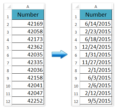And Then You Will See All Selected 5 Digits Numbers Are Converted To Dates With Default Date Formatting As Below Screenshot Shown