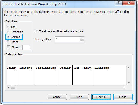 How to convert one cell to multiple cells/rows in Excel?