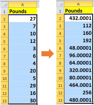 doc pounds to ounces 10