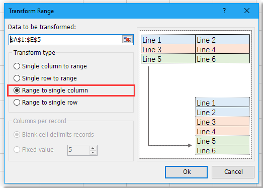 doc convert range to column 13