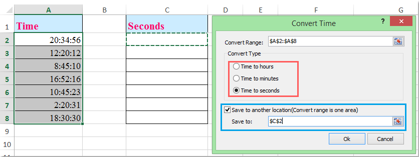 doc convert seconds to time 8