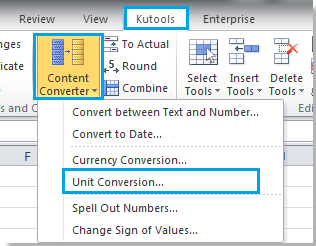 3 And A Unit Conversion Dialog Pops Up Click The Drop Down Box Select Temperature Under Units Option Then Specify You Want To Convert