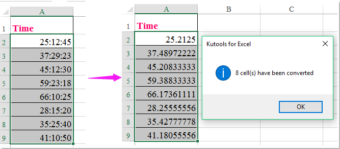 doc convert time to decimal over 24 4