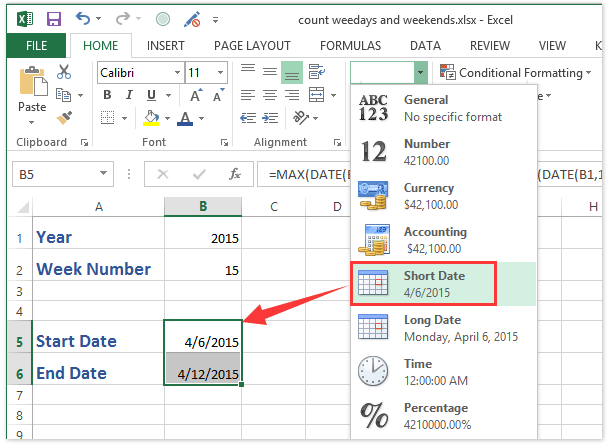 How to convert week number to date or vice versa in Excel?