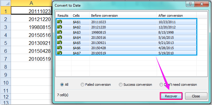 doc converte para data normal 12