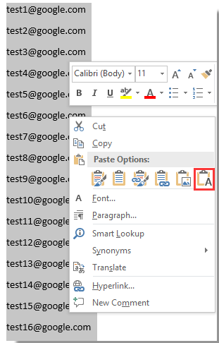 doc copy email addresses to outlook 4