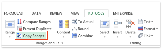 Excel addin: copy multiple ranges simultaneously