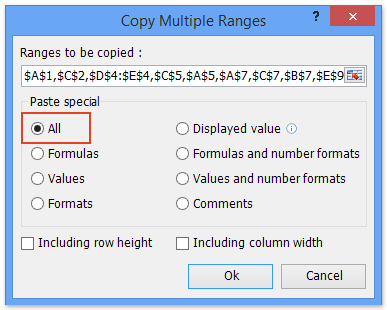 dialog: copy multiple ranges simultaneously