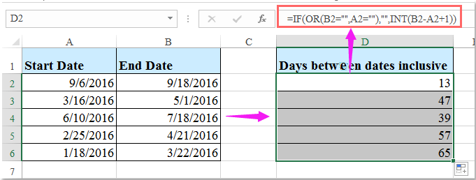 doc count days including 1