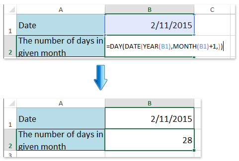 How To Count The Number Of Days Or Workdays In A Month In Excel