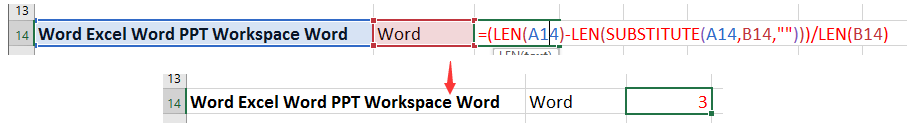 doc count instance of word 3