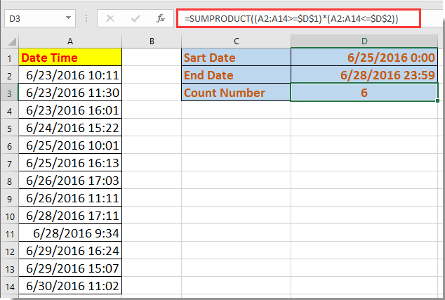 doc count occurrence between datetime 2