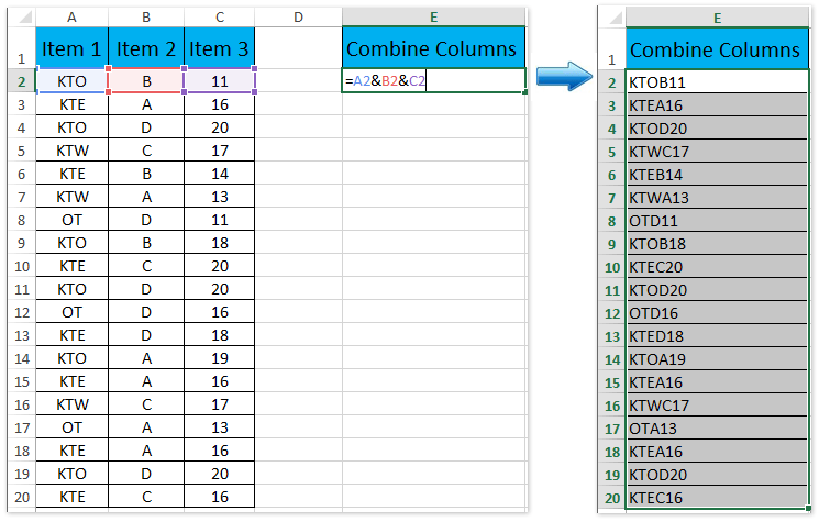 doc count unique rows combinations of columns 1