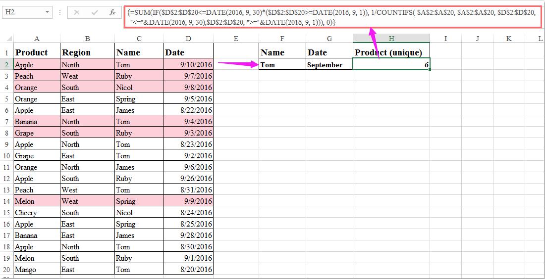 doc count unique with multiple criteria 3