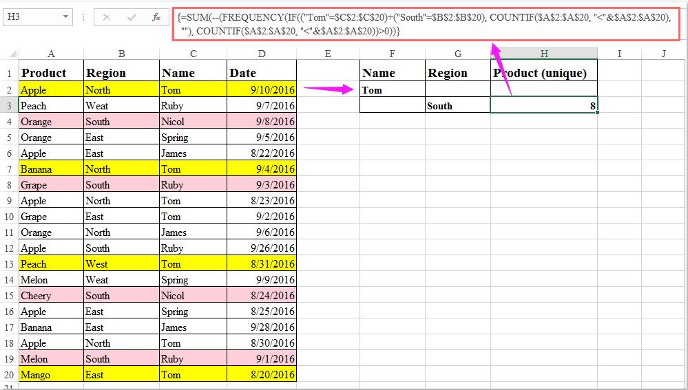 doc count unique with multiple criteria 5