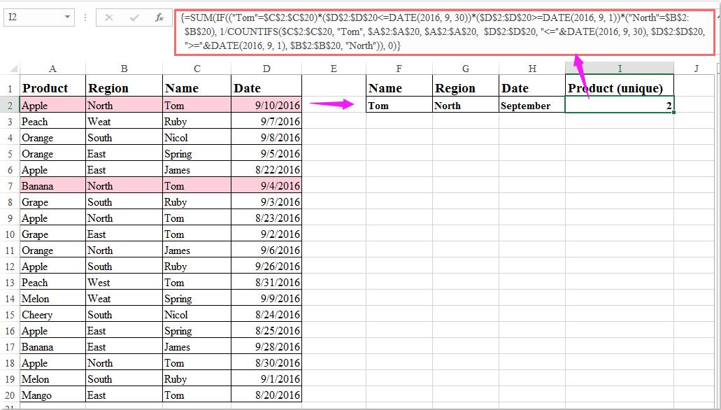 doc count unique with multiple criteria 6