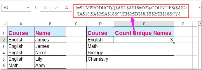 doc count unique par critère 2