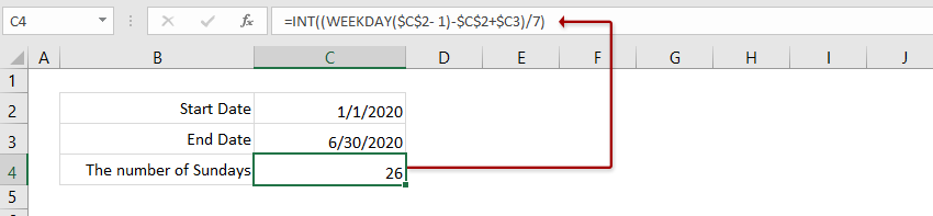 How To Count The Number Of Weekends Weekdays Between Two Dates In Excel