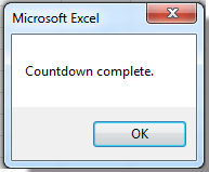 How to insert countdown timer in Excel?