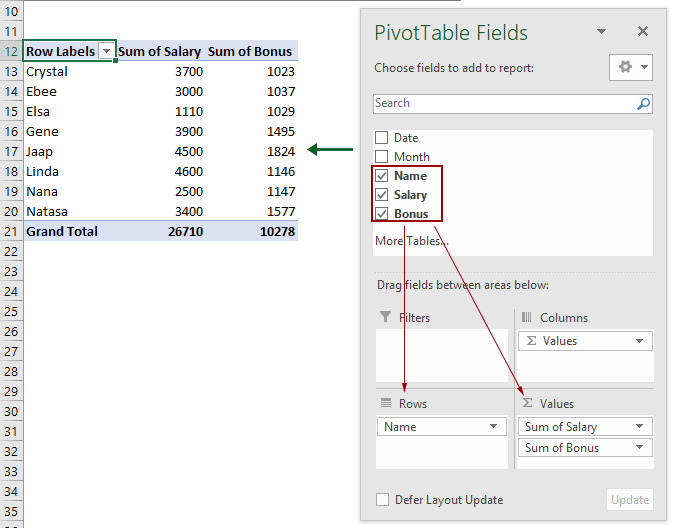 How To Create A Dynamic Pivot Table To Auto Refresh