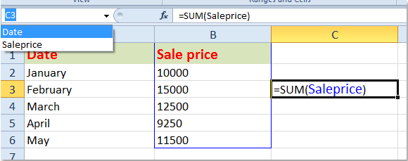 How to create dynamic named range in Excel?