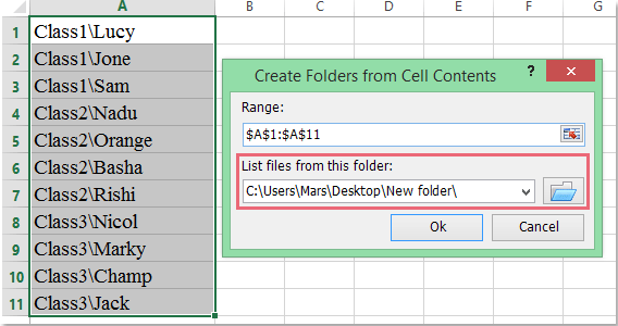 doc create folders subfolders 6