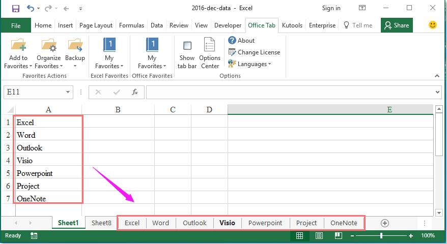 How to create multiple worksheets from a list of cell values?