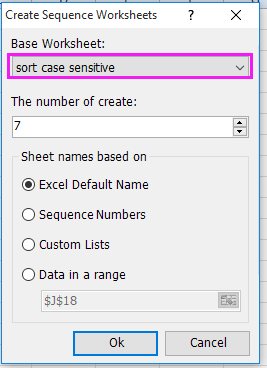 doc create sheet names by list 6