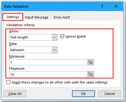 doc data validation number of digits 4
