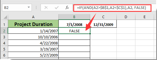 How to determine if a date falls between two dates or on weekend in Excel?