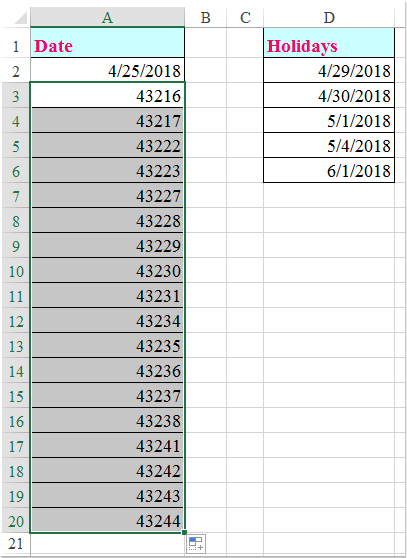 doc fill date without holidays 2