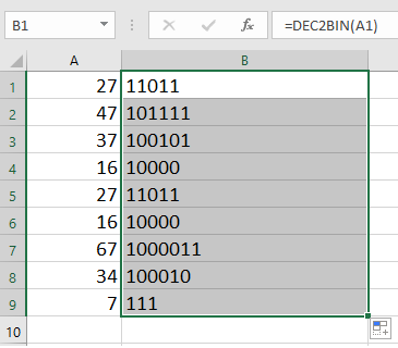 How to convert decimal number to binary/octal/hex number or