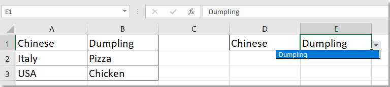 doc default value by another cell dropdown list 3