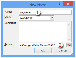 How to define named range across worksheets in Excel?