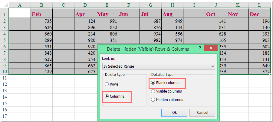 doc delete blank columns with header 4