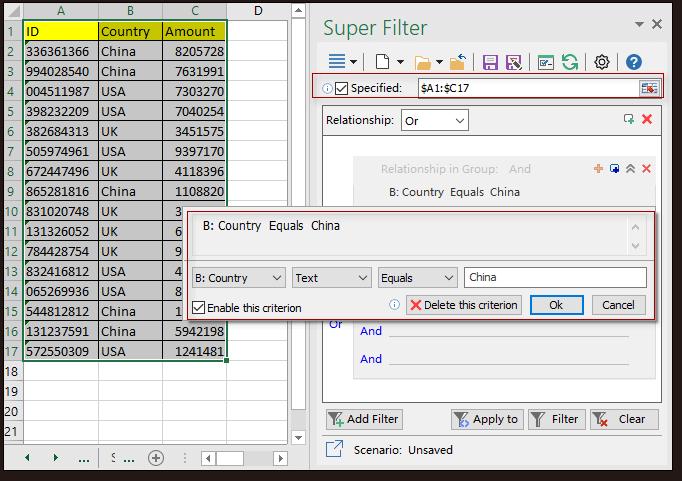 doc kutools super filter 1