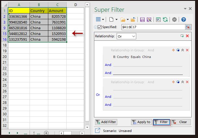 doc kutools super filter 3