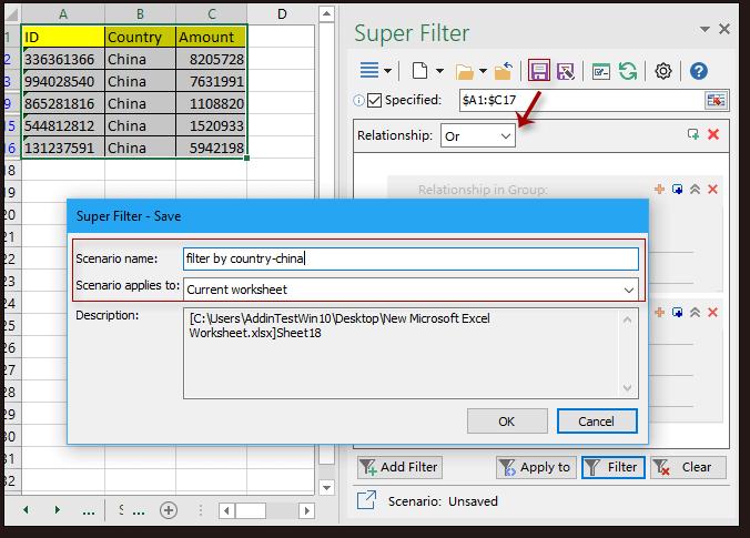 doc kutools super filter 4
